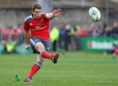 Ian Keatley of Munster in action during the Heineken Cup Quarter Final match between Munster and Toulouse at Thomond Park on April 5 2014 in Limerick...