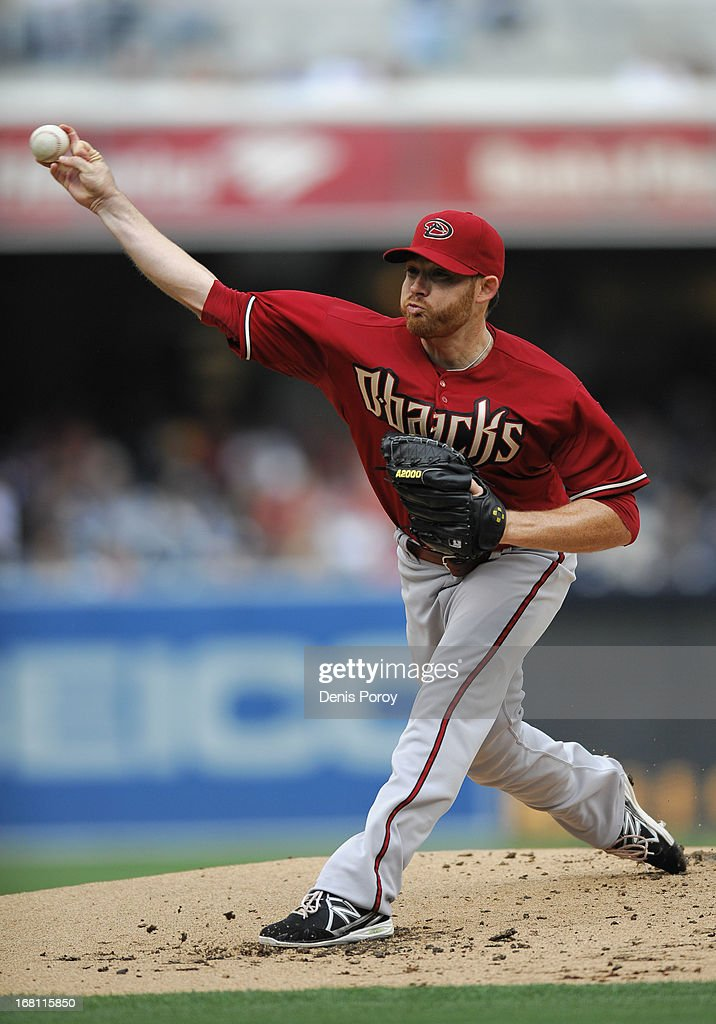 Ian Kennedy #31 of the Arizona Diamondbacks pitches during the first inning of a baseball game against the San Diego Padres at Petco Park on May 5, 2013 in San Diego, California.