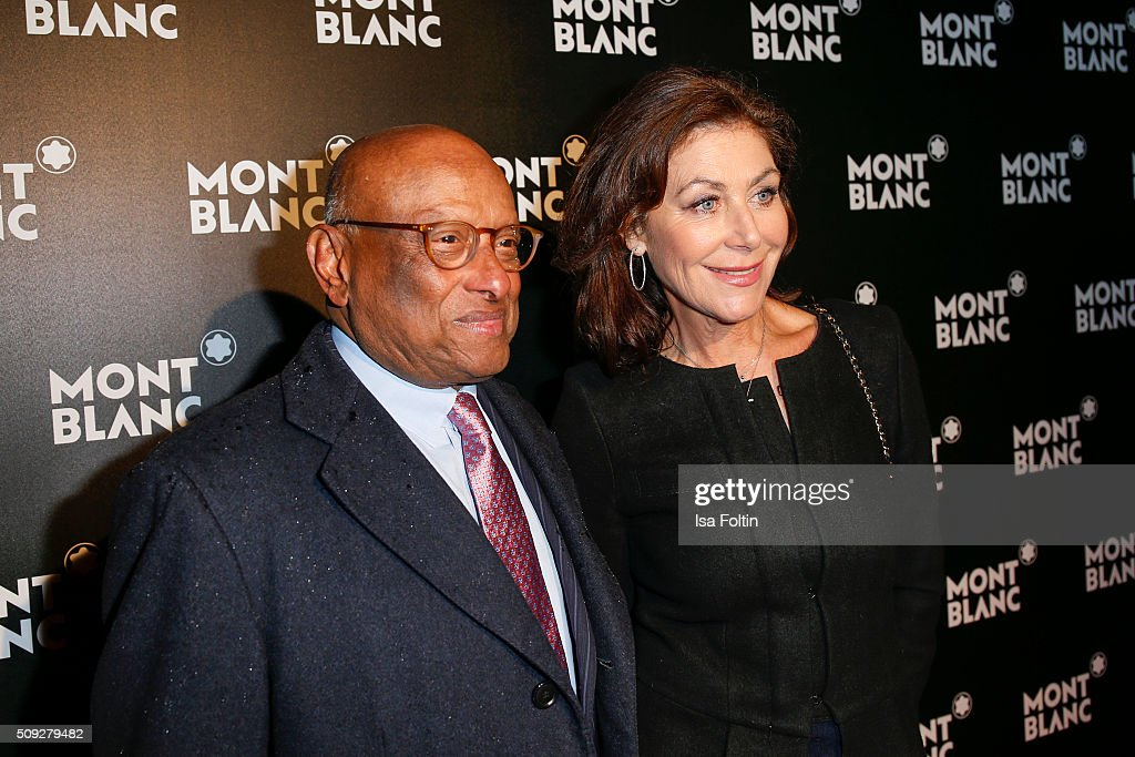 Ian Kiru Karan and Alexandra von Rehlingen attend the Montblanc House Opening on February 09, 2016 in Hamburg, Germany.