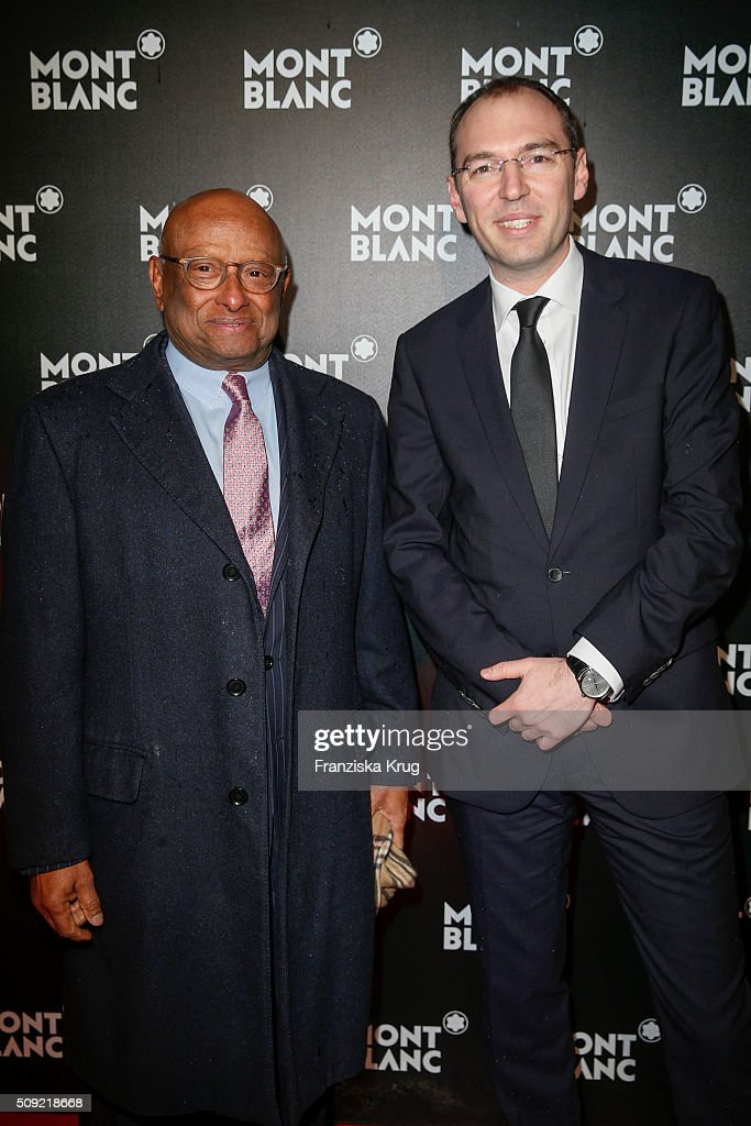Ian Kiru Karan and Oliver Goessler attend the Montblanc House Opening on February 09, 2016 in Hamburg, Germany.