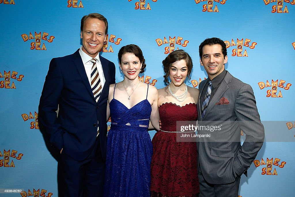 Ian Knauer Tessa Grady Kirstie Kerwin and Kevin Worley attend Dames At Sea' Opening Night at Helen Hayes Theatre on October 22 2015 in New York City