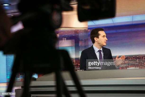 Ian Lyngen head of US rates strategy at BMO Capital Markets Corp speaks during a Bloomberg Television interview in New York US on Thursday March 23...