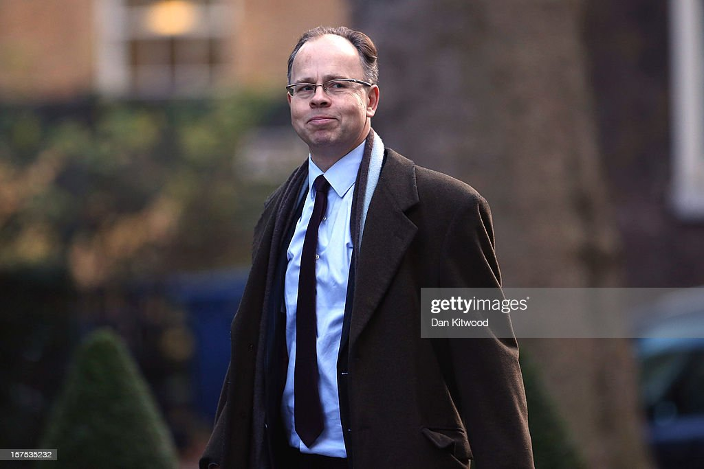 Ian MacGregor, editor of the Sunday Telegraph, arrives on Downing Street on December 4, 2012 in London, England. Most editors of the national daily newspapers are meeting the Prime Minister David Cameron and culture secretary Maria Miller in Downing Street to discuss ideas for a new system of press regulation.