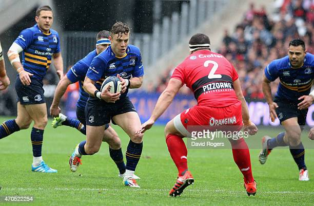 Ian Madigan of Leinster runs with the ball during the European Rugby Champions Cup semi final match between RC Toulon and Leinster at Stade Velodrome...