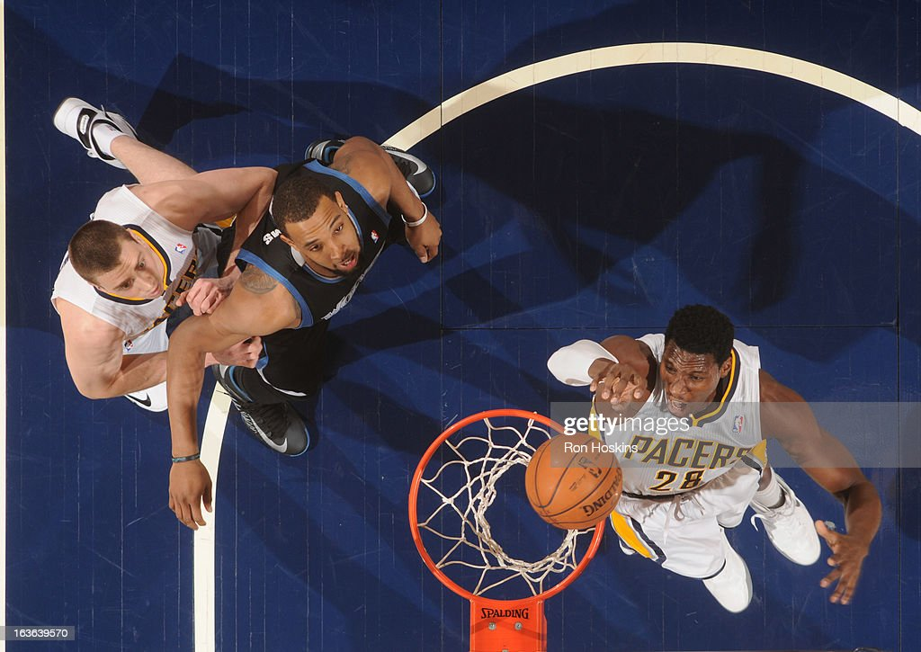 <a gi-track='captionPersonalityLinkClicked' href=/galleries/search?phrase=Ian+Mahinmi&family=editorial&specificpeople=740196 ng-click='$event.stopPropagation()'>Ian Mahinmi</a> #28 of the Indiana Pacers dunks the ball during the game between the Indiana Pacers and the Minnesota Timberwolves on March 13, 2013 at Bankers Life Fieldhouse in Indianapolis, Indiana.