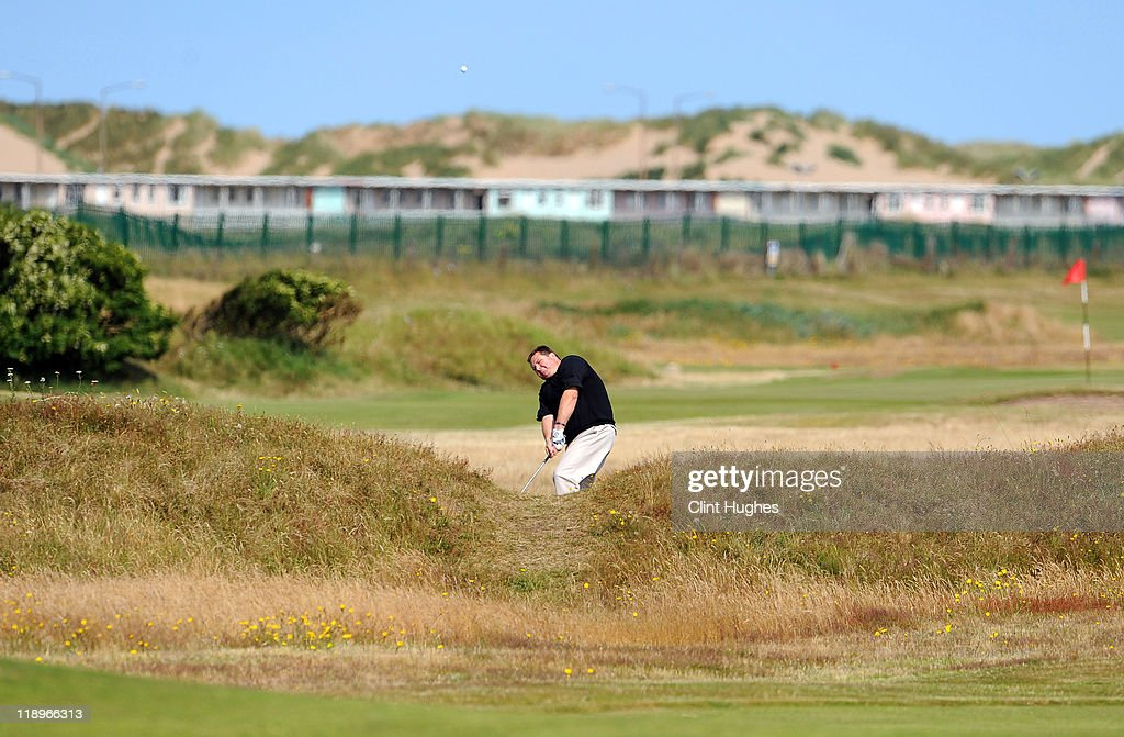 Ian Marshall of Pontefract and District Golf Club plays out of the rough on the eigth hole during the Virgin Atlantic PGA National Pro-Am Championship - Regional at St Annes Old Links Golf Club on July 13, 2011 in Lytham St Annes, England