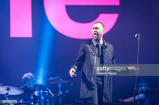 Ian Matthews and Tom Meighan of Kasabian perform on Main Stage during T in The Park Day 1 at Strathallan Castle on July 10 2015 in Perth United...