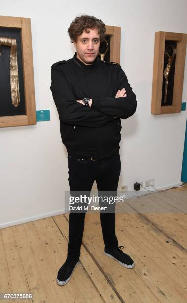 Ian Matthews attends a private view of exhibition 'Morphosis' during the official launch of the West Contemporary gallery on April 19 2017 in London...