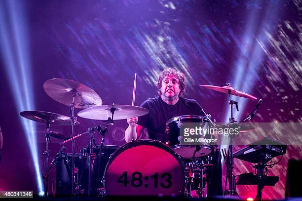 Ian Matthews of Kasabian performs onstage headlining Day 1 of the T in the Park festival at Strathallan Castle on July 10 2015 in Perth Scotland