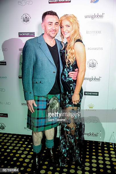 Ian McAllister and Brynne Gordon attend The Fashion Aid Launch at The Bond Bar on August 9 2016 in Melbourne Australia