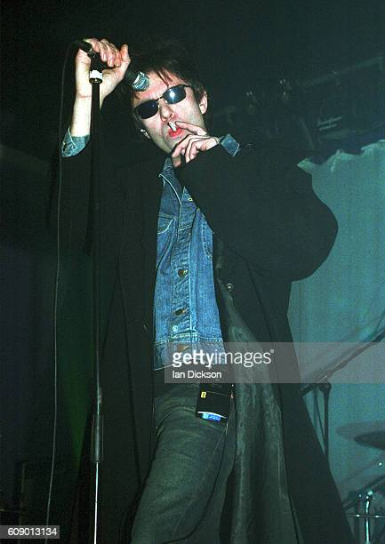 Ian McCulloch of Echo And The Bunnymen performing on stage at Concorde 2 Brighton 02 February 2002