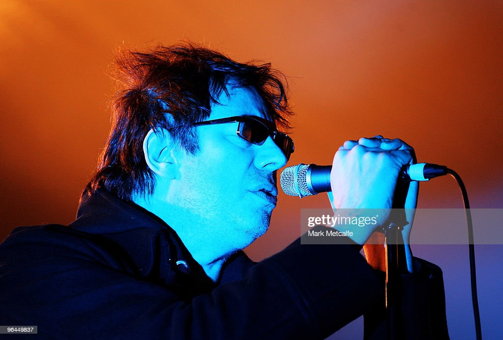 Ian McCulloch of Echo The Bunnymen performs on stage during the Adelaide leg of Laneway Festival at Fowler's Live on February 5 2010 in Adelaide...