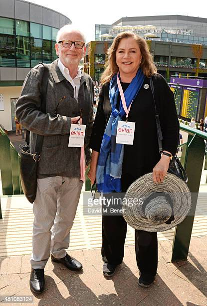 Ian McDiarmid and Kathleen Turner attend the evian Live Young suite on the opening day of Wimbledon at the All England Lawn Tennis and Croquet Club...