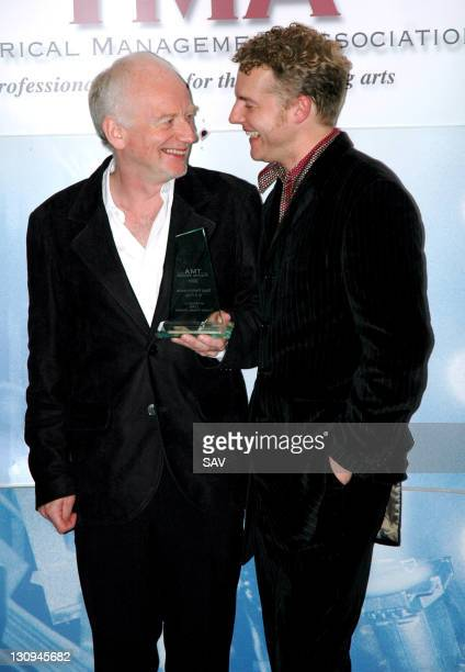 Ian McDiarmid winner of Best Performance in a Play and presenter Sam West