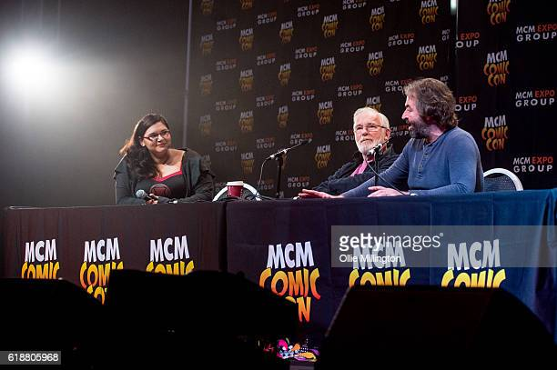 Ian McElhinney and Ian Bettie of Game of Thrones appear in conversation about the show on day 1 of the MCM London Comic Con at ExCel on October 28...