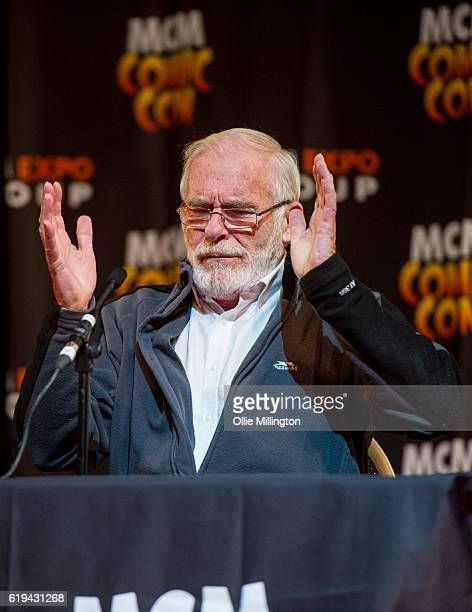 Ian McElhinney from Game of Throne discusses the show onstage during day 3 of the MCM London Comic Con at ExCel on October 29 2016 in London England