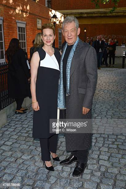 Ian McKellen and Laura Linney attend the UK Premiere of 'Mr Holmes' at ODEON Kensington on June 10 2015 in London England