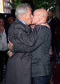 Ian McKellen and Patrick Stewart attend the UK Premiere of 'Mr Holmes' at ODEON Kensington on June 10 2015 in London England