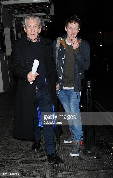 Ian McKellen arrives at Ivy Club on January 8 2013 in London England