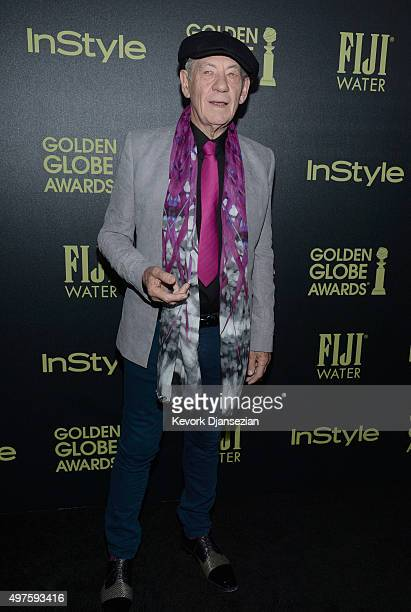 Ian McKellen attends Hollywood Foreign Press Association and InStyle Celebration of The 2016 Golden Globe Award Season at Ysabel on November 17 2015...