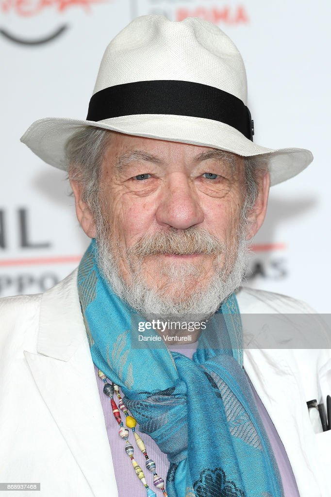 Ian McKellen attends 'McKellen: Playing The Part' photocall during the 12th Rome Film Fest at Auditorium Parco Della Musica on November 1, 2017 in Rome, Italy.