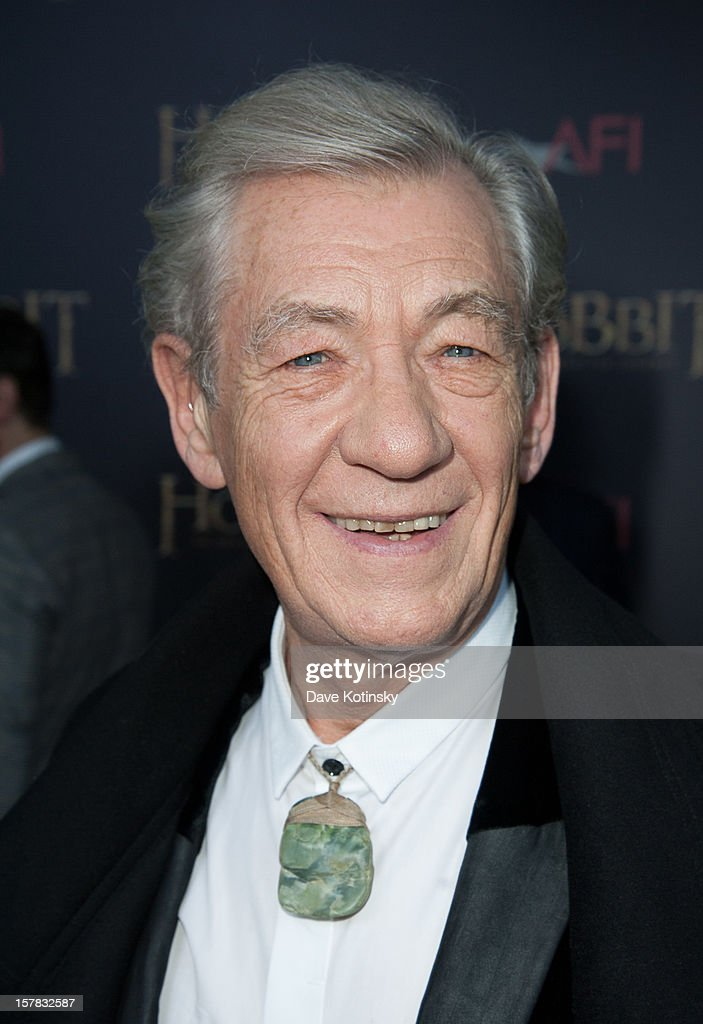 Ian McKellen attends 'The Hobbit: An Unexpected Journey' New York premiere benefiting AFI at Ziegfeld Theater on December 6, 2012 in New York City.