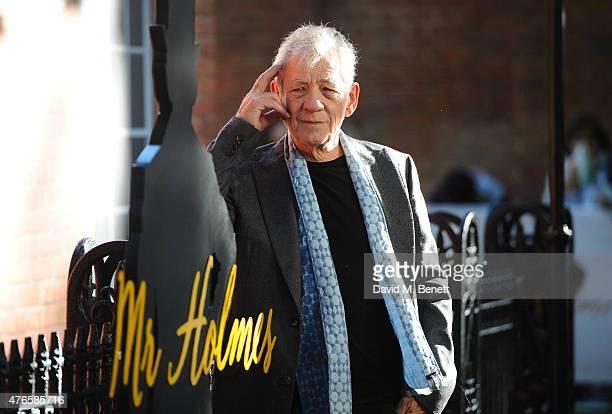 Ian McKellen attends the UK Premiere of 'Mr Holmes' at ODEON Kensington on June 10 2015 in London England