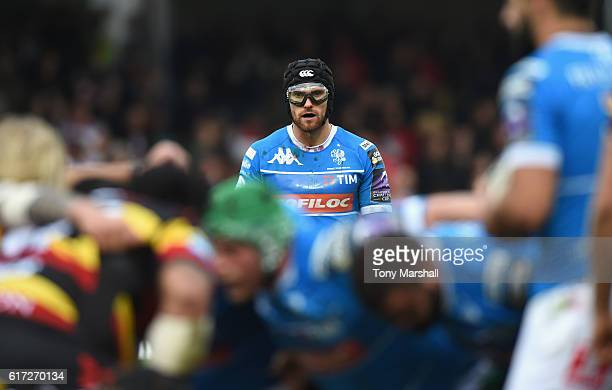 Ian McKinley of Benetton Treviso during the European Rugby Challenge Cup match between Gloucester Rugby and Benetton Treviso at Kingsholm Stadium on...