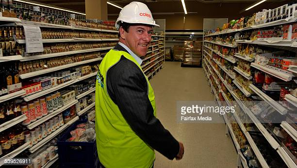 Ian Mcleod Coles CEO tours their Tooronga store which is being refurbished