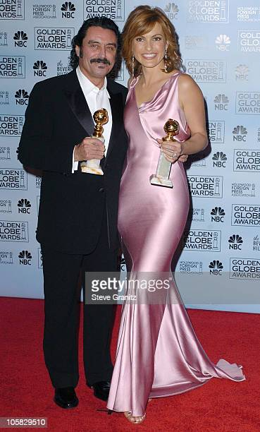 Ian McShane and Mariska Hargitay winner of Best Dramatic Actor/Actress for a Television Series for 'Law Order Special Victims Unit'