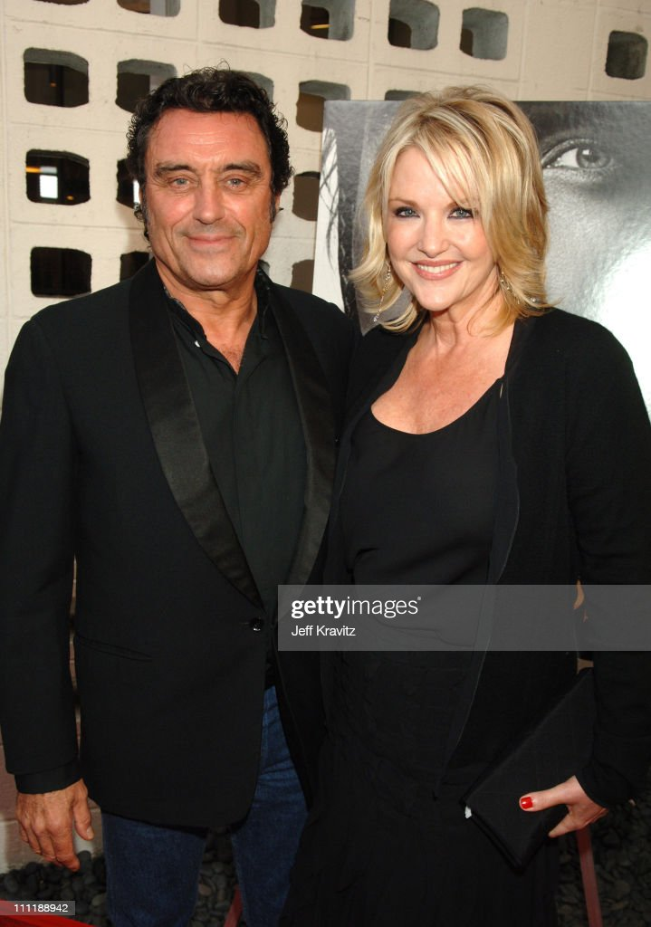 Ian McShane and wife during 'Deadwood' Season Premiere - Red Carpet at Cinerama Dome in Hollywood, California, United States.