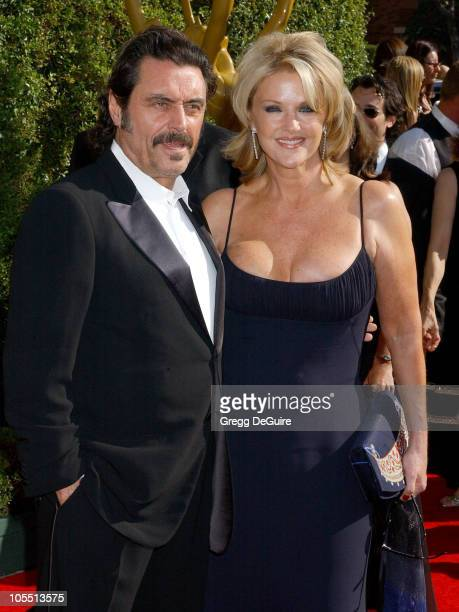 Ian McShane and wife Gwen Humble during 2005 Emmy Creative Arts Awards Arrivals at Shrine Auditorium in Los Angeles CA United States