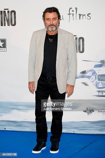 Ian McShane attends 'El Nino' premiere at Kinepolis Cinema on August 28 2014 in Madrid Spain