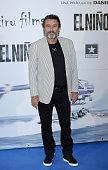 Ian McShane attends the premiere of 'El Nino' at Kinepolis Cinema on August 28 2014 in Madrid Spain