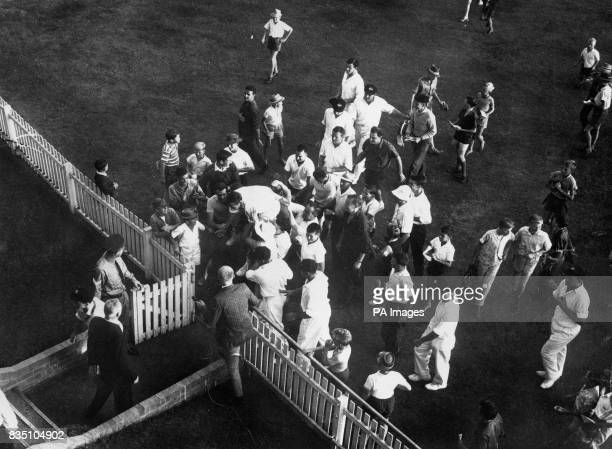 Ian Meckiff Australia's fast bowler was chaired from the field by the sympathetic crowd after the second and for him tragic day's play It was during...