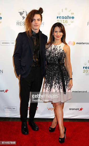 Ian Mellencamp and Hilaria Baldwin attend The Resolution Project's Resolve 2016 Gala at The Harvard Club of New York on October 13 2016 in New York...