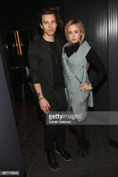 Ian Mellencamp and Jazmin Grace Grimaldi attend the after party for 'Their Finest' screening hosted by STXfilms and EuropaCorp with The Cinema...