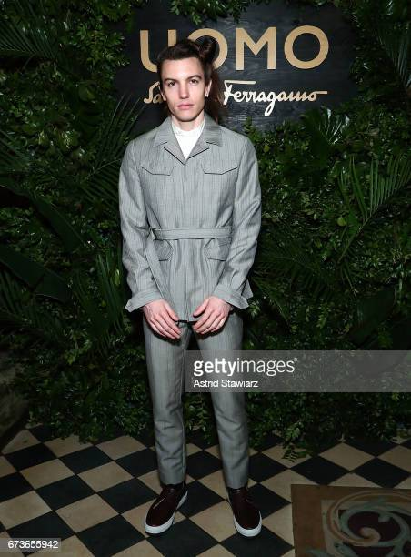 Ian Mellencamp attends UOMO Salvatore Ferragamo celebration at Rose Bar at Gramercy Park Hotel on April 26 2017 in New York City