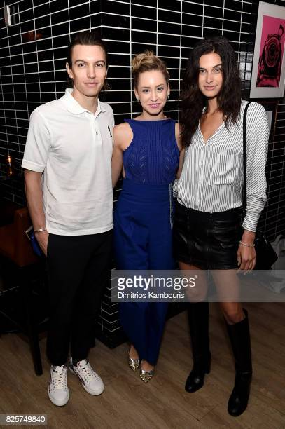 Ian Mellencamp Jazmin Grace Grimaldi and Mariah Strongin attend the Weinstein Company 'Wind River' After Party at The Skylark on August 2 2017 in New...