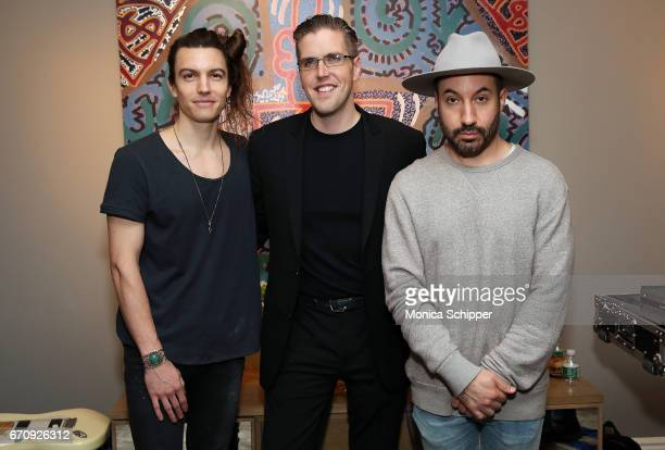 Ian Mellencamp John Platt and Chris Liggio attend ALFA APARTMENT SESSIONS At 199 Mott In NYC on April 20 2017 in New York City