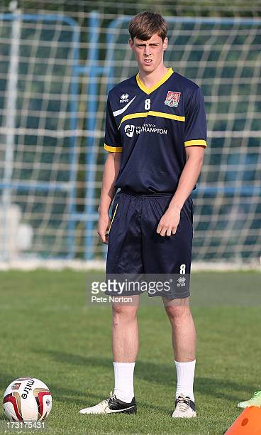 Ian Morris of Northampton Town in action during a training session during PreSeason Training on July 3 2013 in Novigrad Croatia