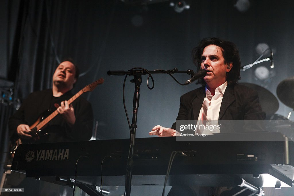 Ian Mosley and Steve Hogarth of Marillion perform on stage at Manchester Academy on November 8, 2013 in Manchester, United Kingdom.