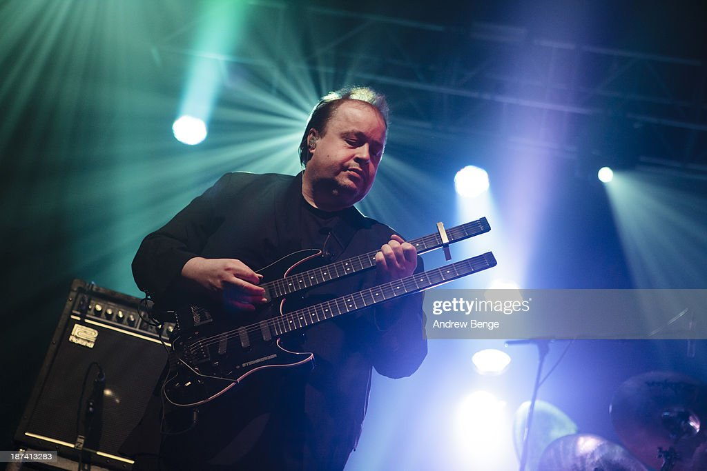 Ian Mosley of Marillion performs on stage at Manchester Academy on November 8, 2013 in Manchester, United Kingdom.