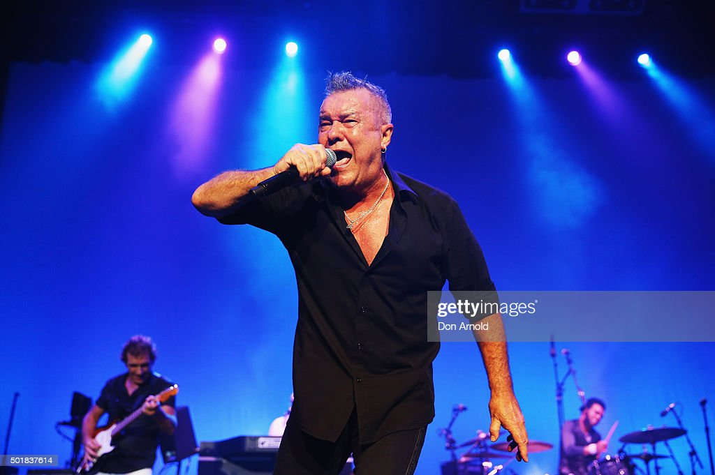 Ian Moss Jimmy Barnes and Charley Drayton of Cold Chisel perform at Qantas Credit Union Arena on December 18 2015 in Sydney Australia