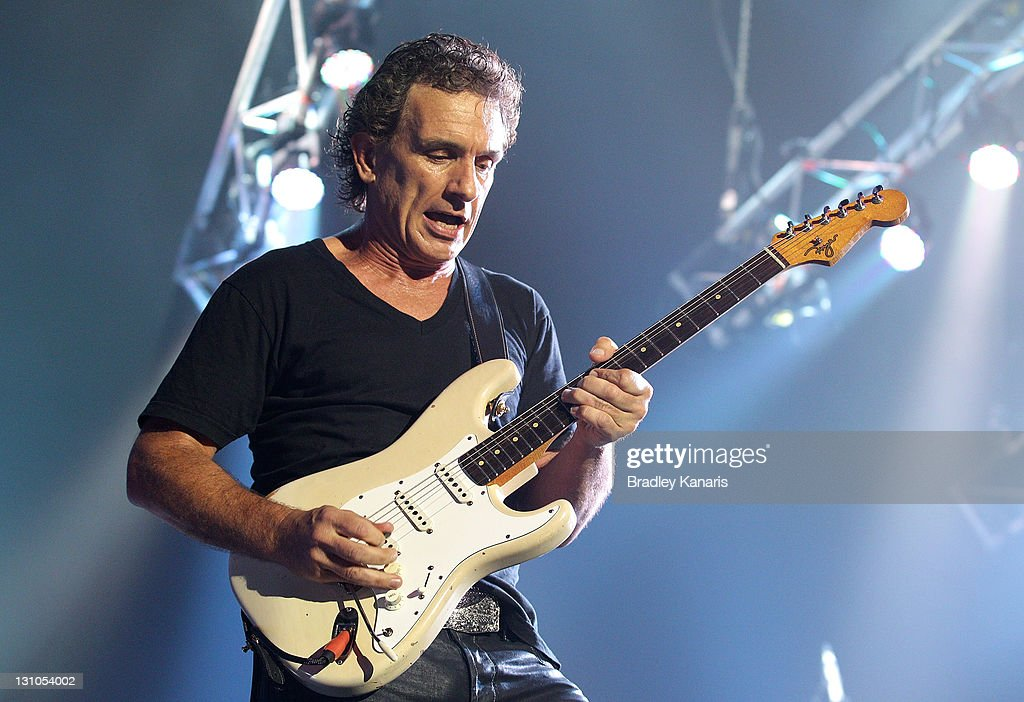Ian Moss of Cold Chisel performs on stage at the Brisbane Entertainment Centre on November 1 2011 in Brisbane Australia
