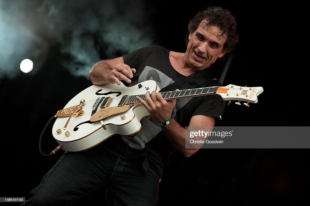 Ian Moss of Cold Chisel performs on stage during Hard Rock Calling at Hyde Park on July 13 2012 in London United Kingdom