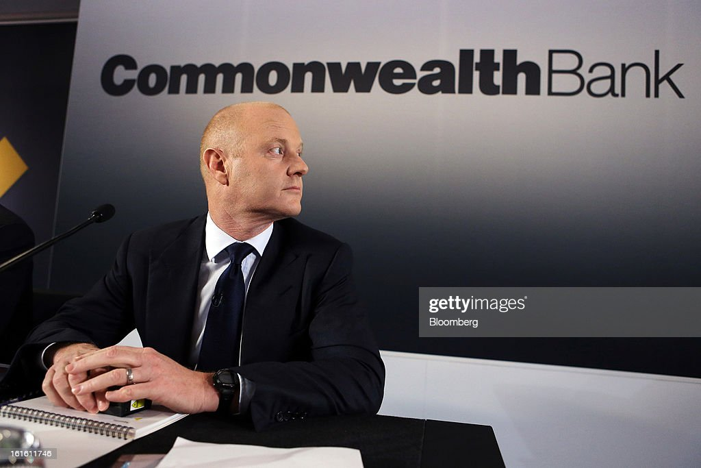 Ian Narev, chief executive officer of Commonwealth Bank of Australia, attends a news conference in Sydney, Australia, on Wednesday, Feb. 13, 2013. Commonwealth Bank of Australia, the nation's biggest lender, said first-half profit rose 1 percent to a record as retail banking and wealth management earnings increased. Photographer: Brendon Thorne/Bloomberg via Getty Images