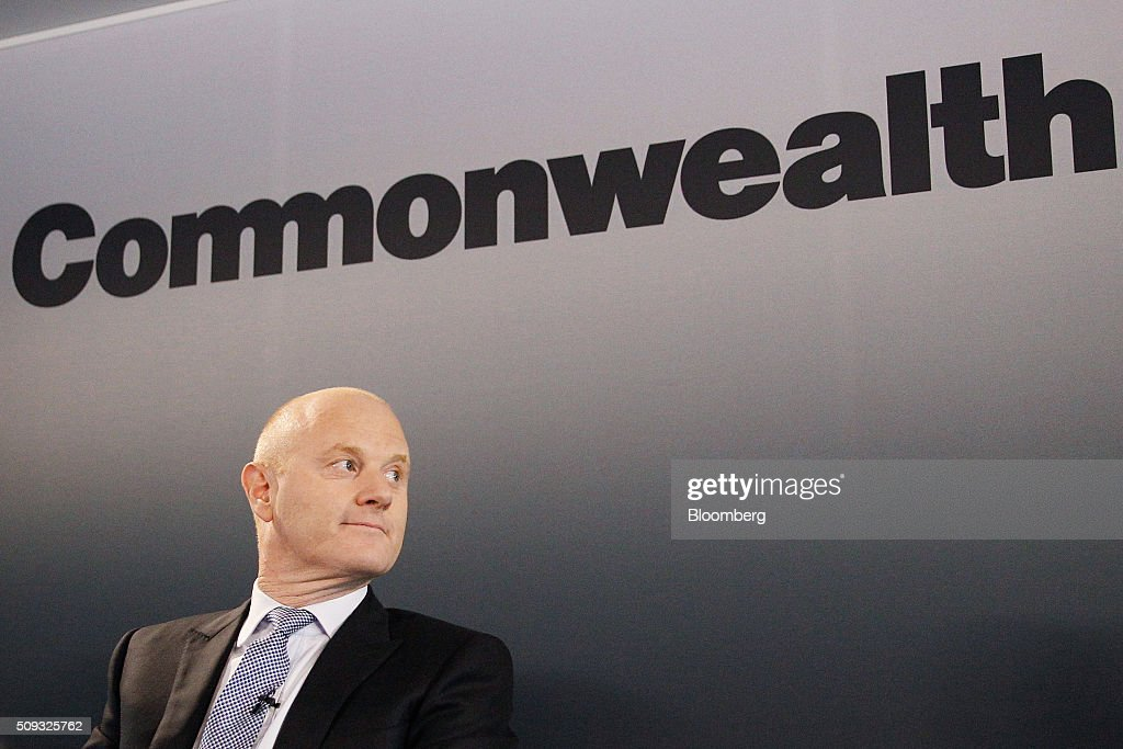 Ian Narev, chief executive officer of Commonwealth Bank of Australia (CBA), attends a news conference in Sydney, Australia, on Wednesday, Feb. 10, 2016. Commonwealth Bank warned of the risks posed by global economic turbulence as the lender posted its slowest first-half profit growth since the financial crisis. Photographer: Brendon Thorne/Bloomberg via Getty Images