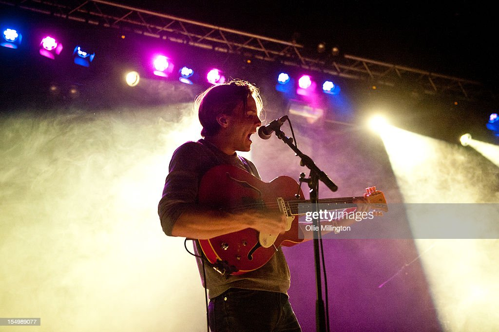Ian Nygaard of Howler performs on stage during a date of the NME Magazine New Generation tour at Rescue Rooms on October 29, 2012 in Nottingham, United Kingdom.