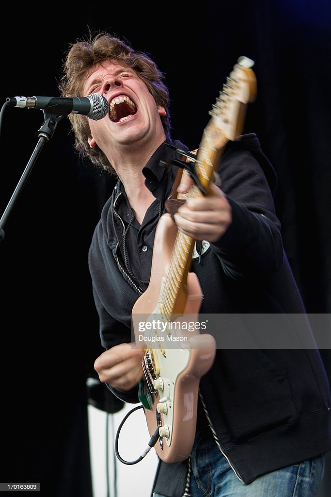Ian O'Neil of Deer Tick performs during the 9th Annual Mountain Jam at Hunter Mountain on June 7, 2013 in Hunter, New York.